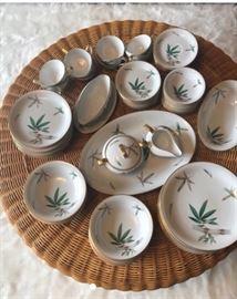 Noritake Vintage CANTON Bamboo Pattern 5027 Porcelain China