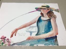 """Original watercolor.  30""""w x 22""""h"""