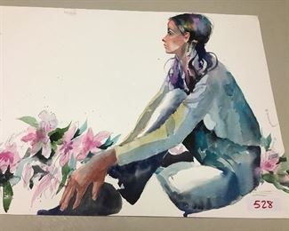 "Original watercolor. 28""w x 21""h"