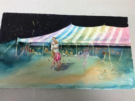 """Original watercolor.  19.5""""w x 11""""h"""