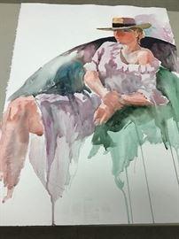 """Original watercolor.  22""""w x 30""""h"""