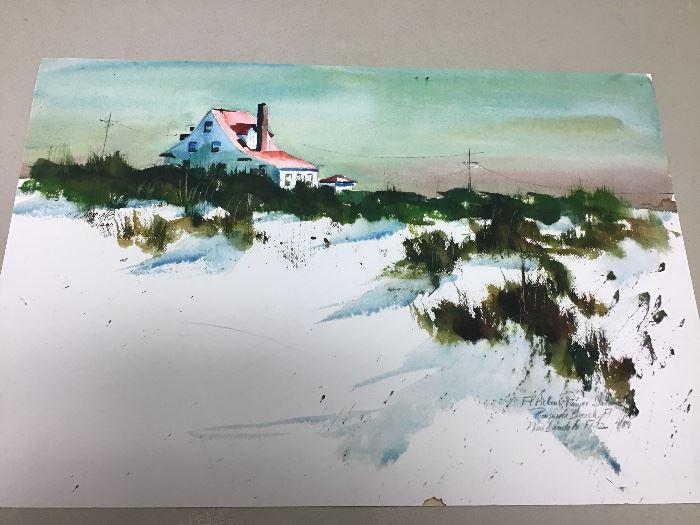"""Original watercolor.  22""""w x 15""""h"""