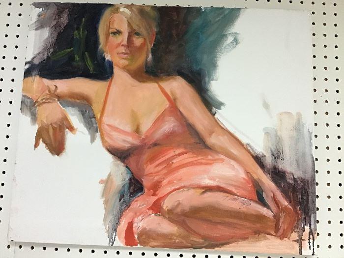 """Original watercolor.  24""""w x 20""""h"""