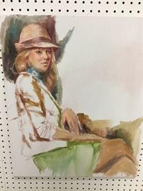 """Original watercolor.  20""""w x 24""""h"""