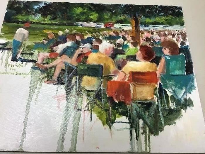"""Original watercolor.  20""""w x 16""""h"""