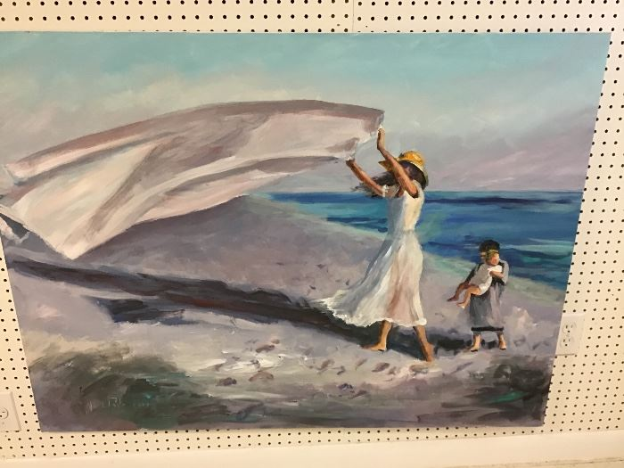 """Original watercolor.  48""""w x 36""""h"""