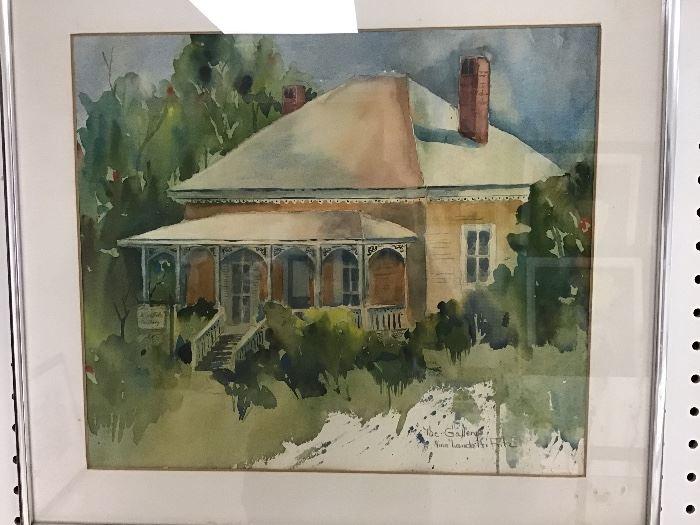 """Original watercolor.  19""""w x 17""""h"""