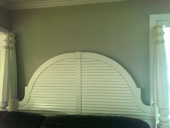 King size four poster bed headboard