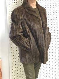 Channeled mink jacket size 8-10