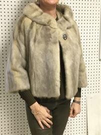 1960's grey mink jacket sz 4-6