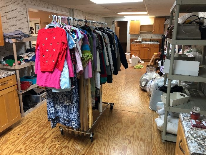 Men's and Women's clothing, shoes, hats etc.