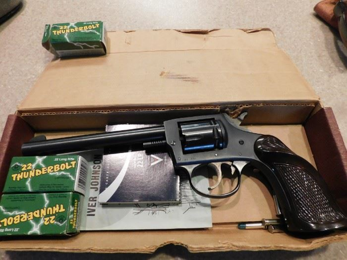 Iver Johnson 22 Target Pistol Model 55A(Boxed/Permit or Concealed and Carry Required)