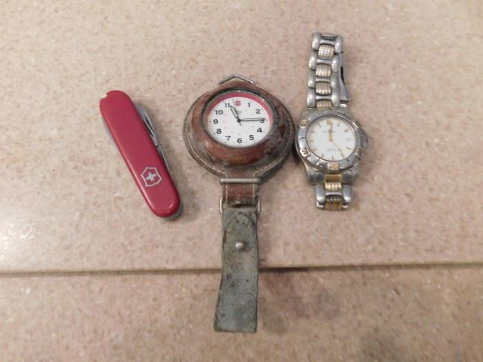 Victorinox Knife and Watch