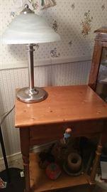 wood tbl/lamp