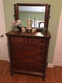 Early American Chest / Mirror
