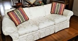 Pair of designer sofas....house was child/pet free....