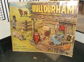 Bull Durham tobacco poster