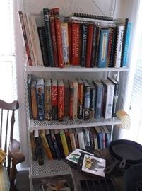Baker's rack and cook books