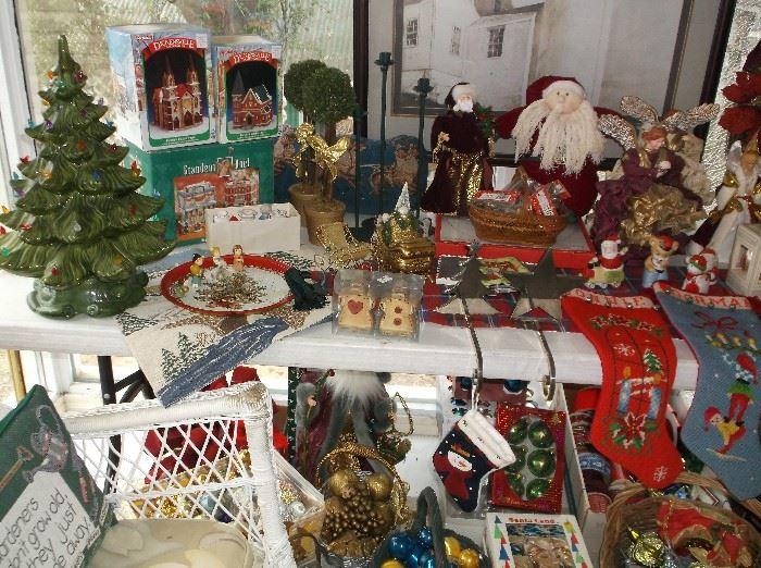 Ceramic Christmas tree and more Christmas decor