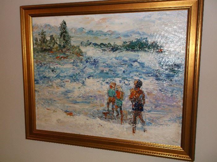 Oil on canvas signed J Potts
