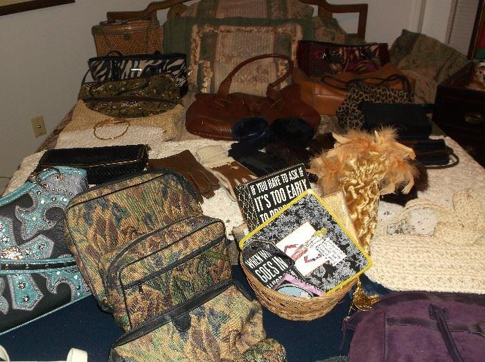 Many handbags