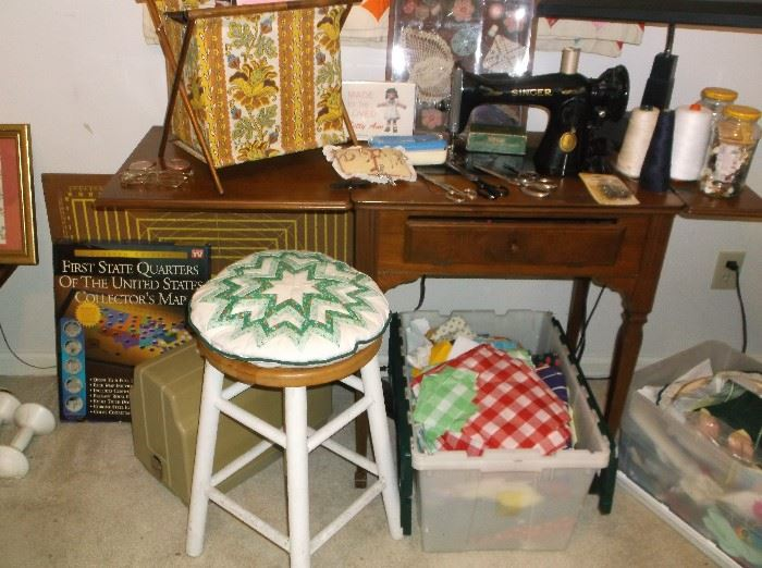 Singer sewing machine and sewing items