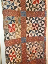 "Handmade quilt ""Broken Dishes"" pattern"