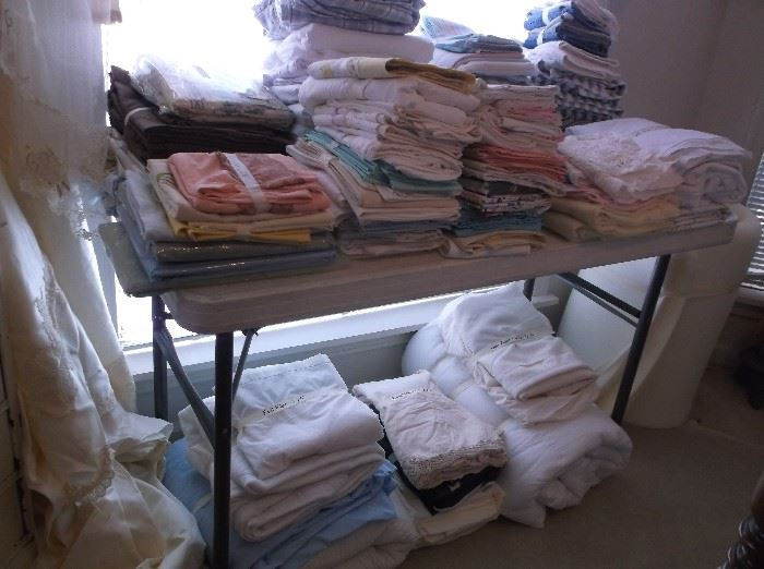 Some of the many linens