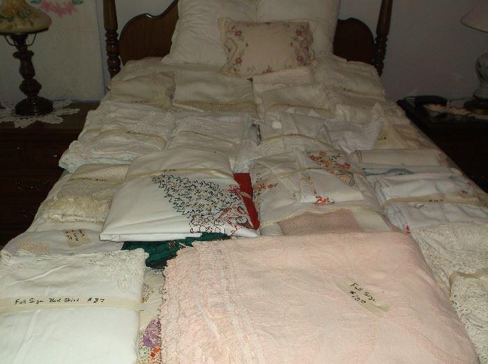 Many tablecloths