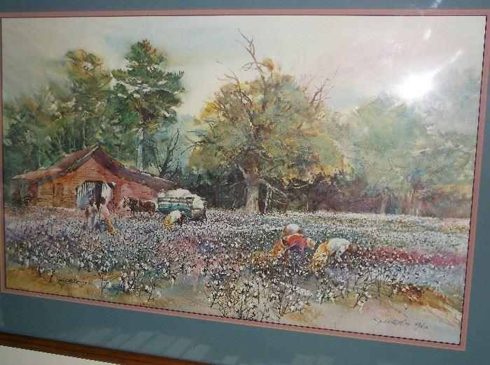 "Jack DeLoney print ""Lowland Cotton"""