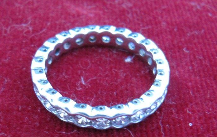 Custom diamond eternity band size 7.5