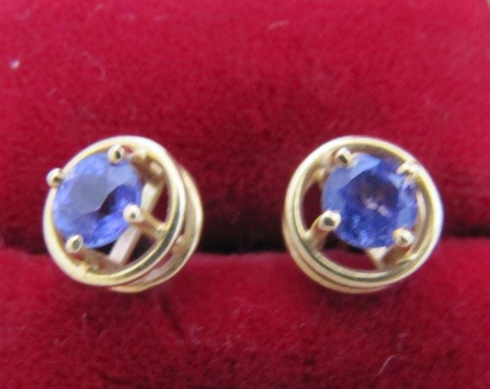 Custom Tanzanite earrings