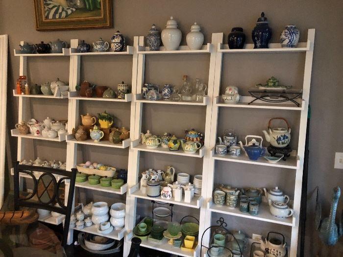Numerous tea pots