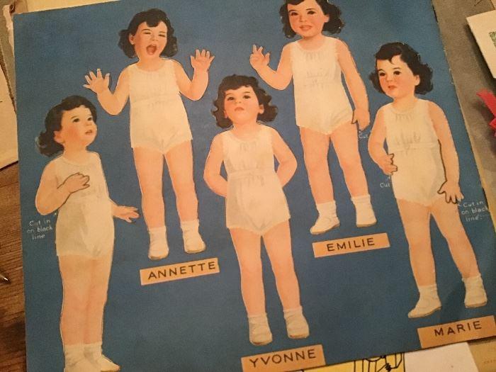 Dionne Quintuplet paper Dolls