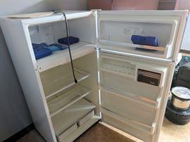Kenmore 12 medium-size fridge/freezer. We also have a very large vertical freezer.
