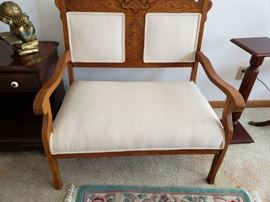 Beautiful carved settee