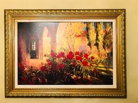 Large framed picture