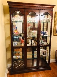 Large lighted curio