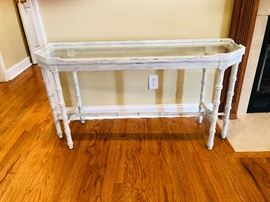 Console/sofa glass top table