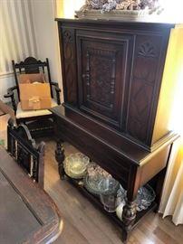 Antique English Court Cupboard!!