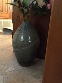 large hand thrown pottery vase