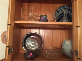Assorted pottery and glassware