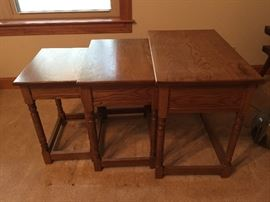 hand crafted stackable tables