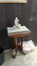 One of many marble top tables