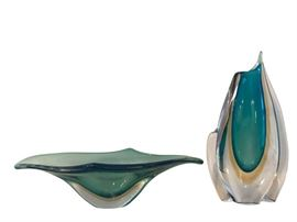 Italian Art Glass Bowl and Vase Collection