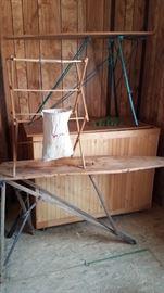 Antique Ironing Boards Set