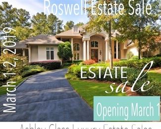 Roswell Front...We have moved all items to 5 car garages  due to the closing of the home.