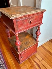 Rustic table; bedside height