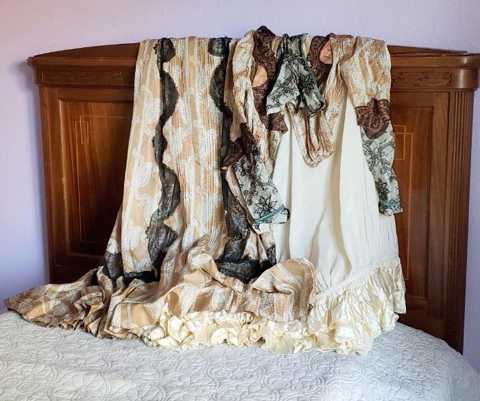 Antique Handmade Silk Ladies Dress