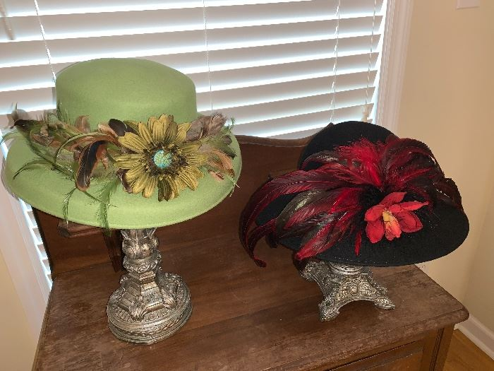 Hats by Anne Sawyer, premier milliner for the Kentucky Derby.